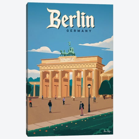 Brandenberg Gate Canvas Print #IDS61} by IdeaStorm Studios Canvas Art