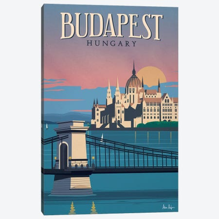 Budapest Canvas Print #IDS64} by IdeaStorm Studios Art Print