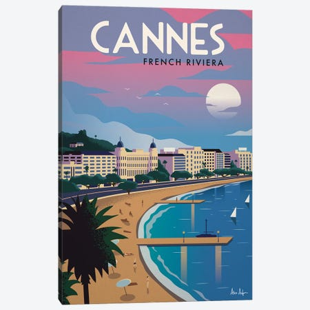 Cannes Canvas Print #IDS65} by IdeaStorm Studios Canvas Art Print