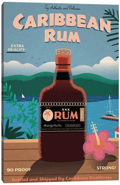 Caribbean Rum Canvas Art Print