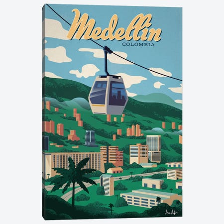Medellin Canvas Print #IDS71} by IdeaStorm Studios Art Print