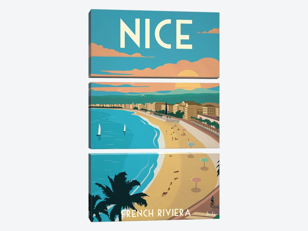 Nice by IdeaStorm Studios 3-piece Canvas Art Print