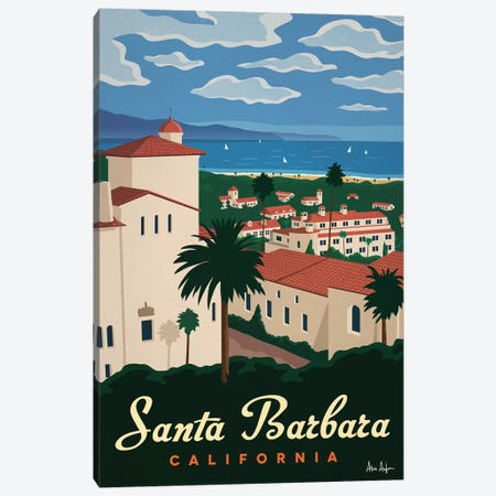 Santa Barbera Canvas Print #IDS74} by IdeaStorm Studios Canvas Wall Art