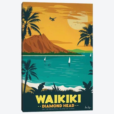 Waikiki Canvas Print #IDS77} by IdeaStorm Studios Canvas Artwork