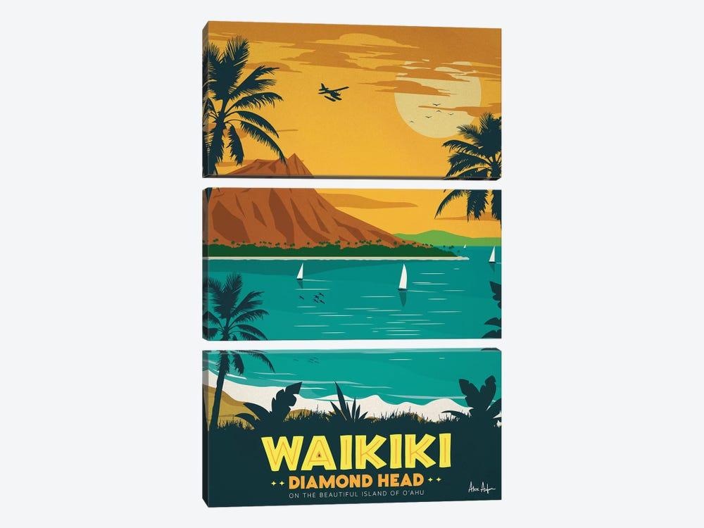 Waikiki by IdeaStorm Studios 3-piece Canvas Wall Art