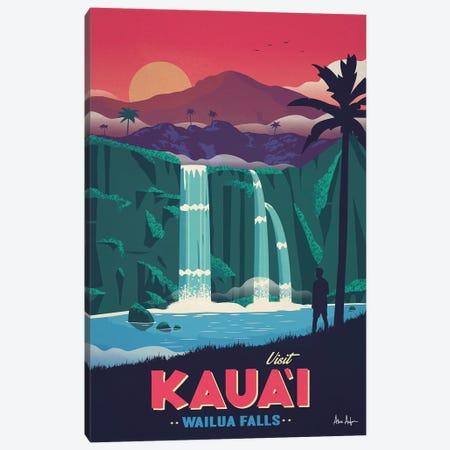 Wailua Falls Canvas Print #IDS78} by IdeaStorm Studios Canvas Print