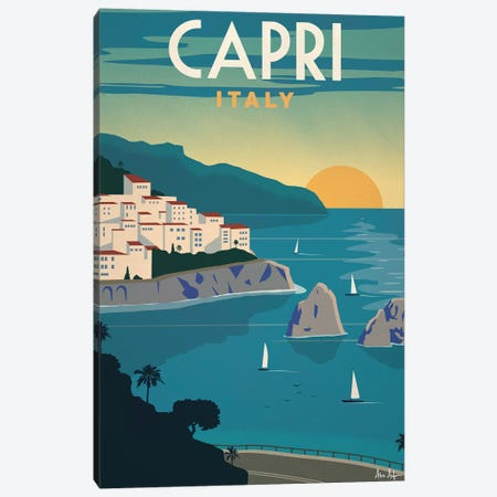 Capri Canvas Print #IDS7} by IdeaStorm Studios Canvas Art