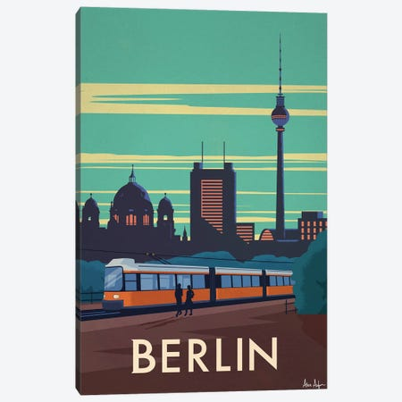 Berlin Canvas Print #IDS89} by IdeaStorm Studios Canvas Wall Art