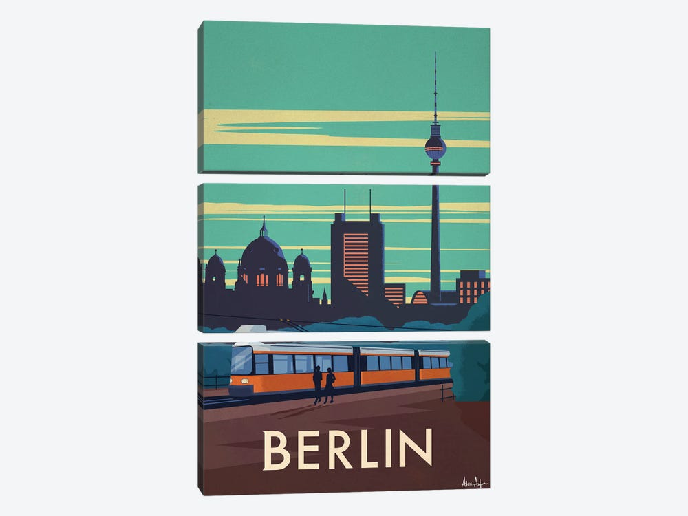 Berlin by IdeaStorm Studios 3-piece Canvas Art Print