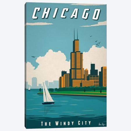 Chicago 3-Piece Canvas #IDS8} by IdeaStorm Studios Art Print