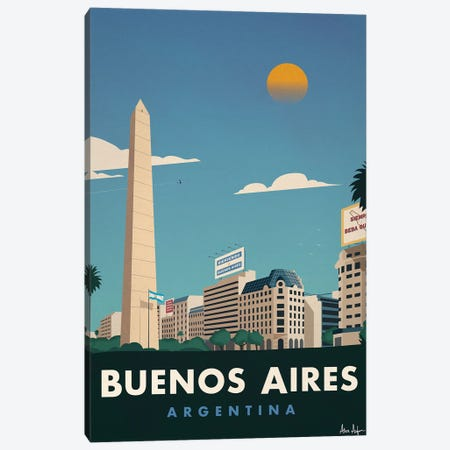 Buenos Aires Canvas Print #IDS90} by IdeaStorm Studios Canvas Print