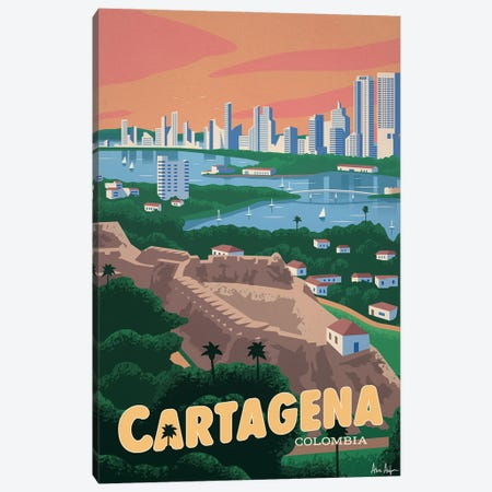 Cartagena Canvas Print #IDS91} by IdeaStorm Studios Art Print