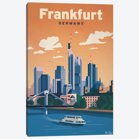 Frankfurt Canvas Print #IDS94} by IdeaStorm Studios Canvas Artwork