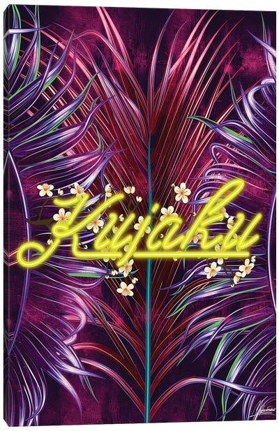 Floral Neon Series: Kujaku Canvas Print #IEN10