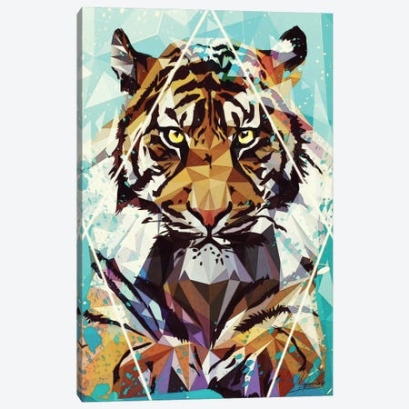 It Tiger Canvas Print #IEN15} by Mayka Ienova Canvas Art