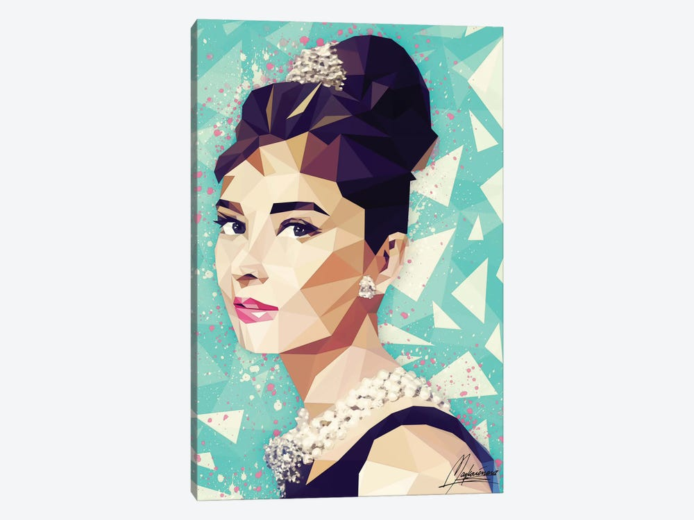 Audrey by Mayka Ienova 1-piece Canvas Print