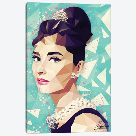 Audrey Canvas Print #IEN1} by Mayka Ienova Canvas Wall Art