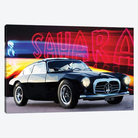 Le Noir Maserati Canvas Print #IEN20} by Mayka Ienova Canvas Art