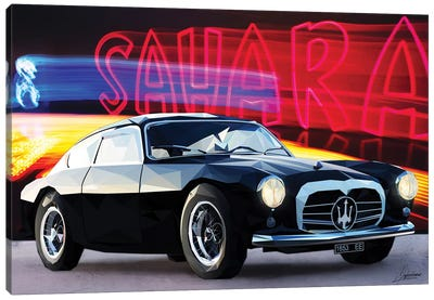 Le Noir Maserati Canvas Art Print