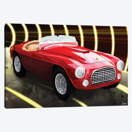 Le Rouge Ferrari Canvas Print #IEN22} by Mayka Ienova Canvas Art
