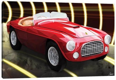 Le Rouge Ferrari Canvas Art Print
