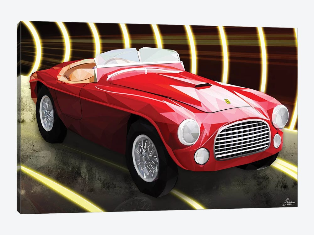 Le Rouge Ferrari by Mayka Ienova 1-piece Canvas Artwork