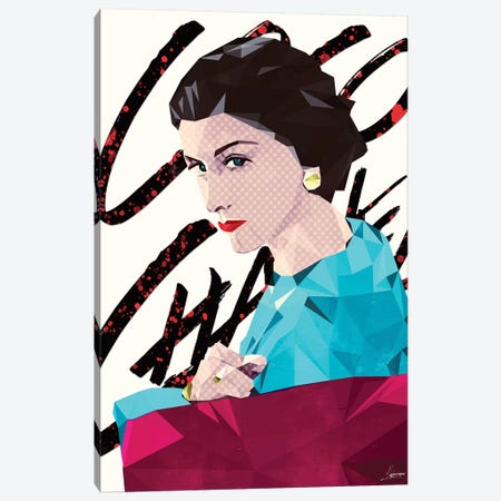 Mademoiselle Coco Canvas Print #IEN23} by Mayka Ienova Canvas Wall Art