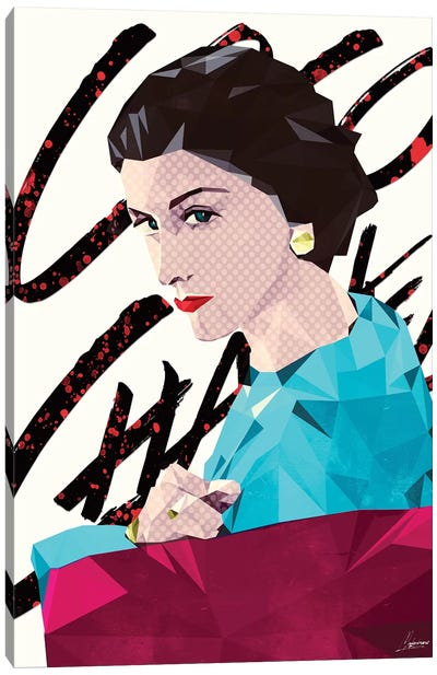 Mademoiselle Coco Canvas Print #IEN23