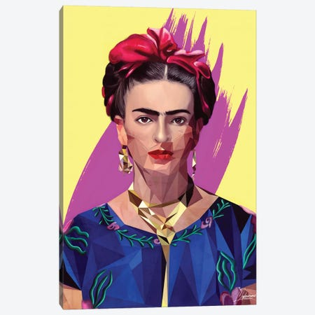 Modern Frida 3-Piece Canvas #IEN24} by Mayka Ienova Canvas Print