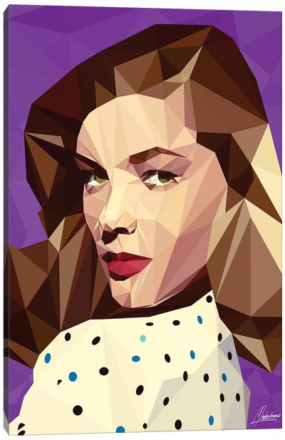 Lauren Bacall Canvas Art Print