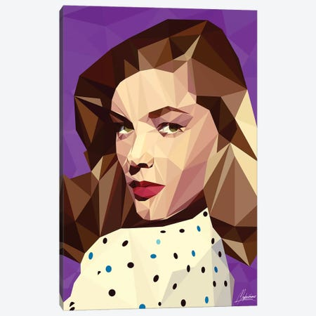 Lauren Bacall Canvas Print #IEN49} by Mayka Ienova Canvas Wall Art