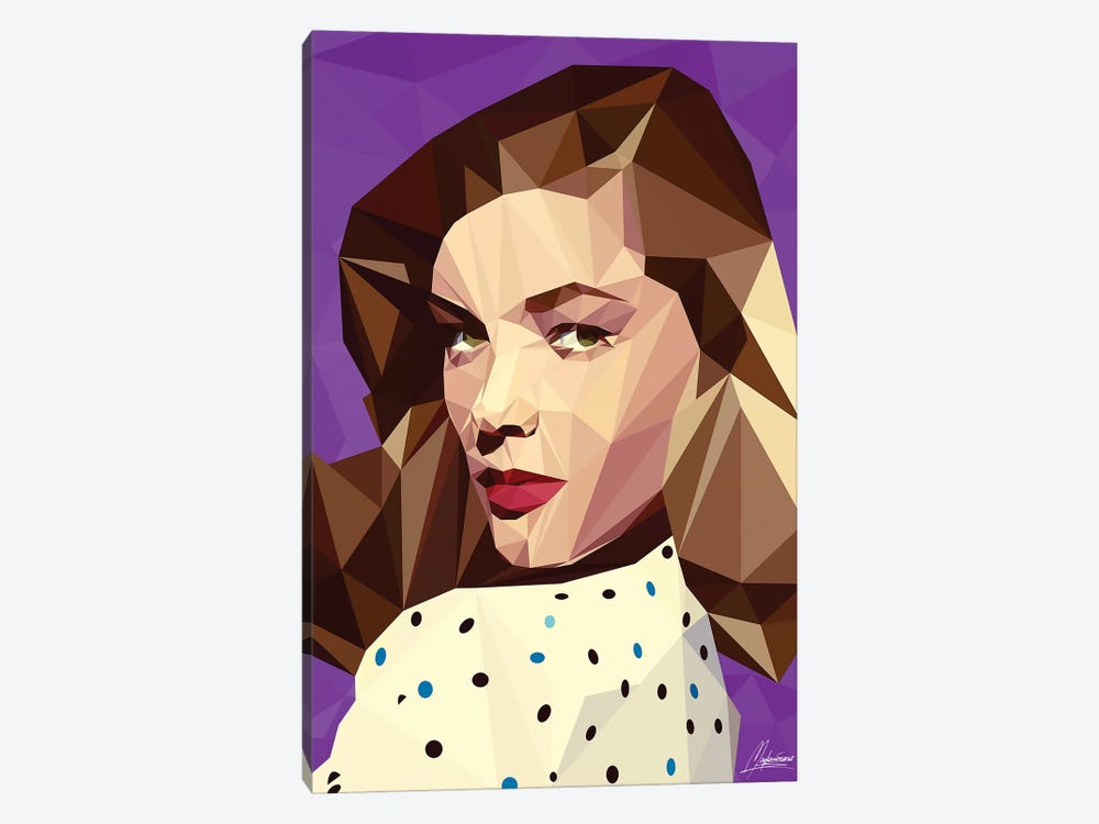 Lauren Bacall by Mayka Ienova 1-piece Art Print