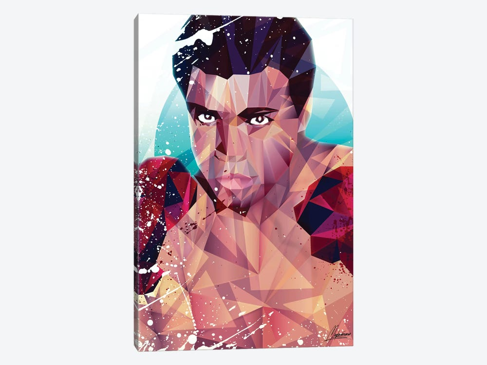 Courageous Ali 1-piece Canvas Wall Art