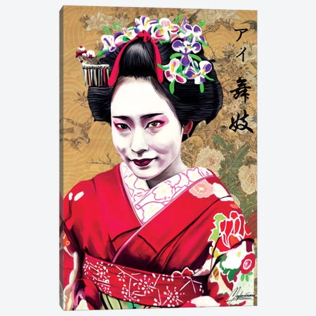 AI Geisha Canvas Print #IEN63} by Mayka Ienova Canvas Art
