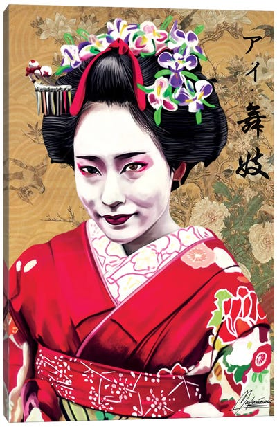 AI Geisha Canvas Art Print