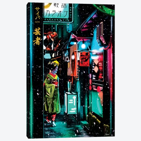 Cyber Geisha Canvas Print #IEN66} by Mayka Ienova Canvas Art Print