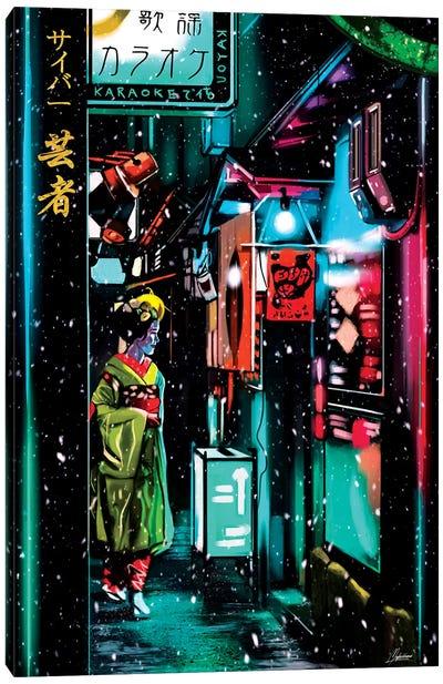 Cyber Geisha Canvas Art Print