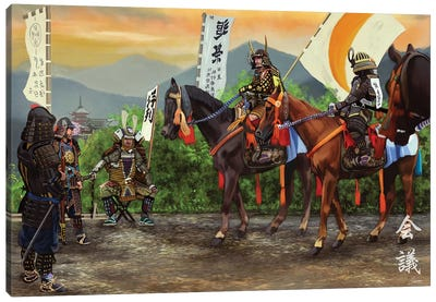 Meeting Of Shoguns Canvas Art Print