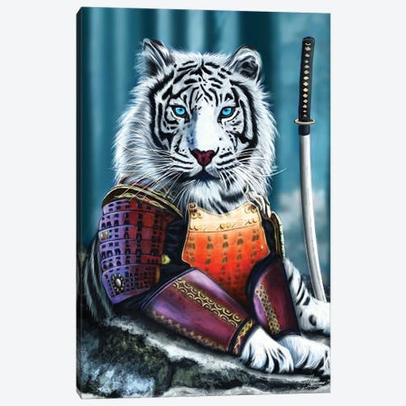 Le Blanc Samourai Canvas Print #IEN81} by Mayka Ienova Canvas Artwork