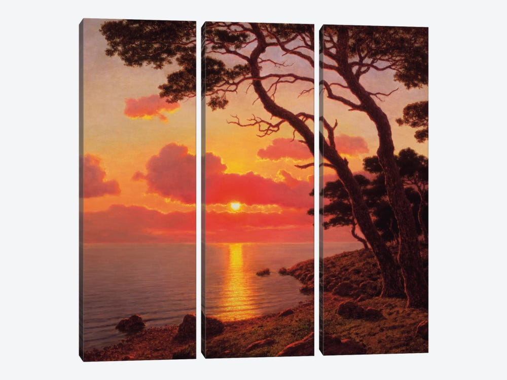 Calme de Soir, Cote d'Azur 3-piece Canvas Artwork
