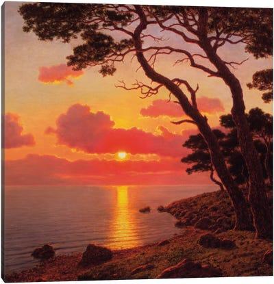 Calme de Soir, Cote d'Azur Canvas Art Print