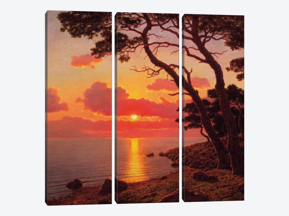 Calme de Soir, Cote d'Azur by Ivan Fedorovich Choultse 3-piece Canvas Artwork