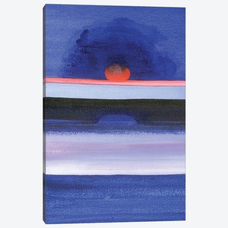 Seascape At Sunset, Helsinki, 1991 Canvas Print #IGA5} by Izabella Godlewska de Aranda Canvas Artwork