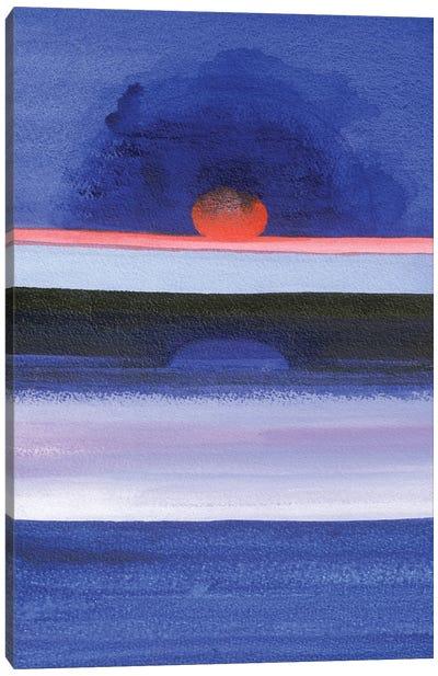 Seascape At Sunset, Helsinki, 1991 Canvas Art Print