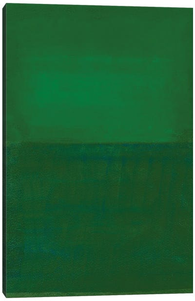 Space, Time, Motion, Green, 2010 Canvas Art Print