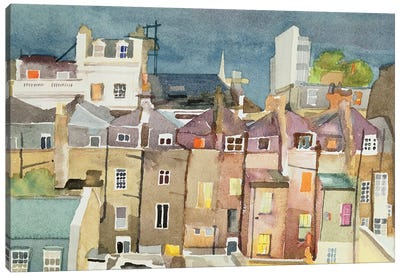 View From Rear Window Of 48 Chester Square, SW1, 1982 Canvas Art Print