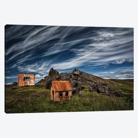 Small Huts Canvas Print #IGI10} by Torsteinn H. Ingibergsson Art Print
