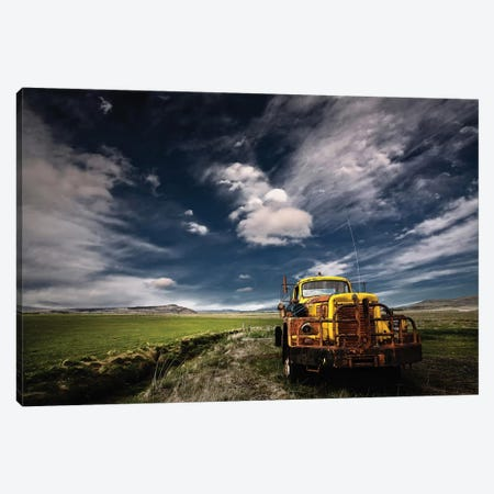 Yellow Truck 3-Piece Canvas #IGI1} by Þorsteinn H. Ingibergsson Art Print