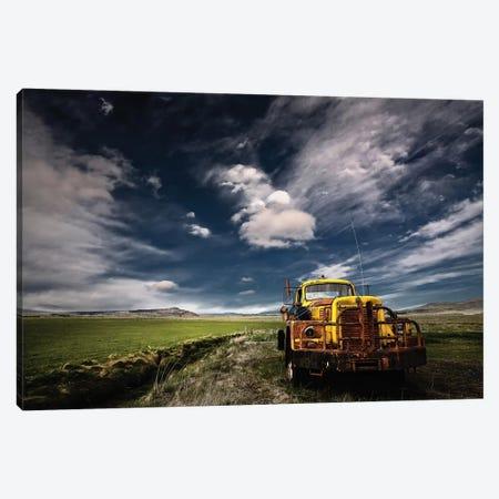 Yellow Truck Canvas Print #IGI1} by Torsteinn H. Ingibergsson Art Print