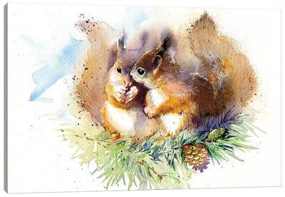 Squirrels Canvas Art Print